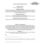 article of incorporation apostille